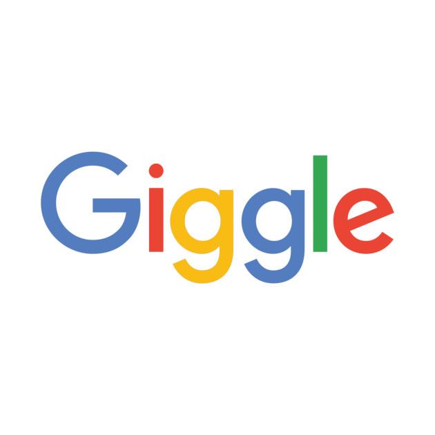 giggle google logo funny tshirt gift idea google t