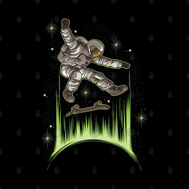 Skating Astronaut | Skateboard Skater Skate Sport