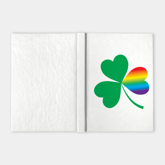 St. Patrick's Day Shamrock With LGBT Rainbow Twist