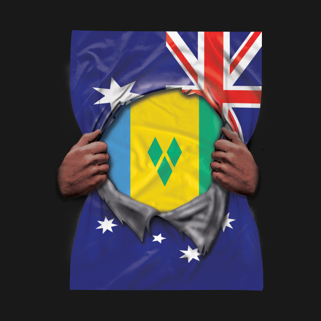 St Vincent And The Grenadines Flag Australian Flag Ripped - Gift for Saint  Vincentian From St Vincent And The Grenadines