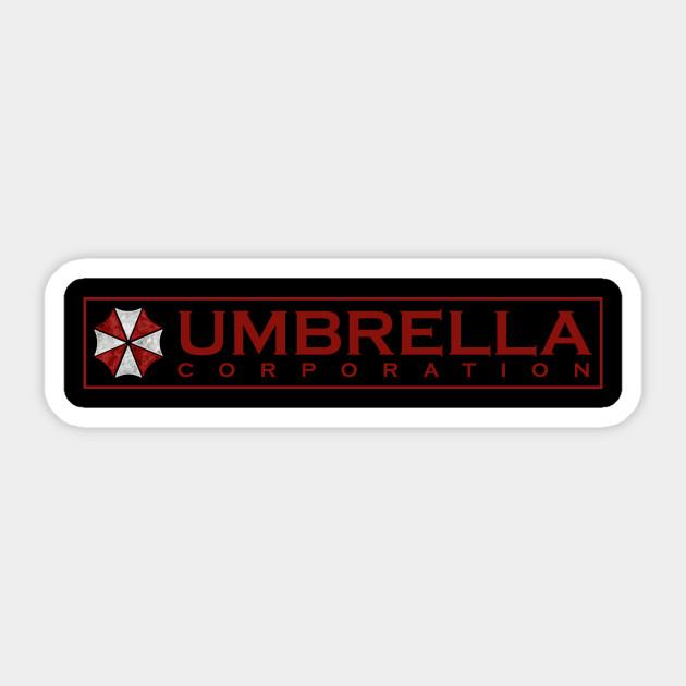 Umbrella Corp Logo Umbrella Corporation Sticker Teepublic