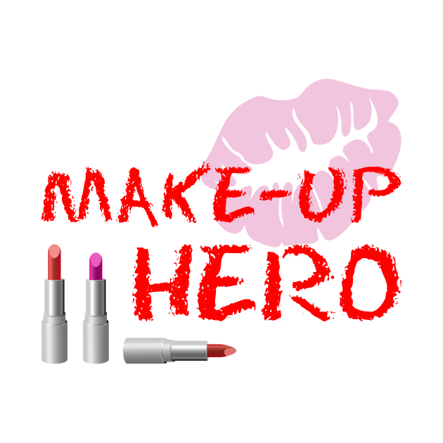 Make-Up Hero On White