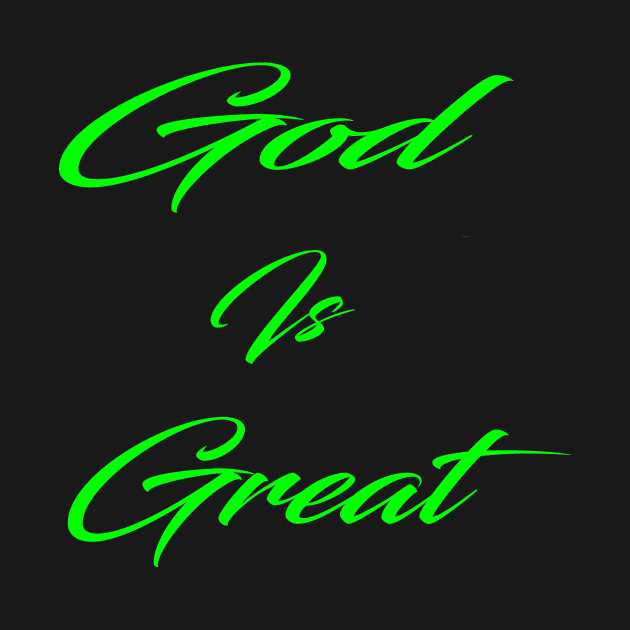 God is great christian