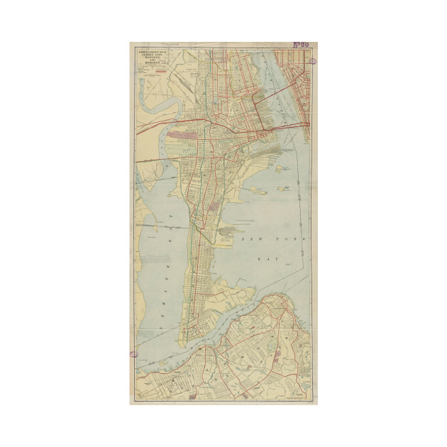 Vintage Map of Bayonne NJ 1912 Bayonne Map TShirt TeePublic
