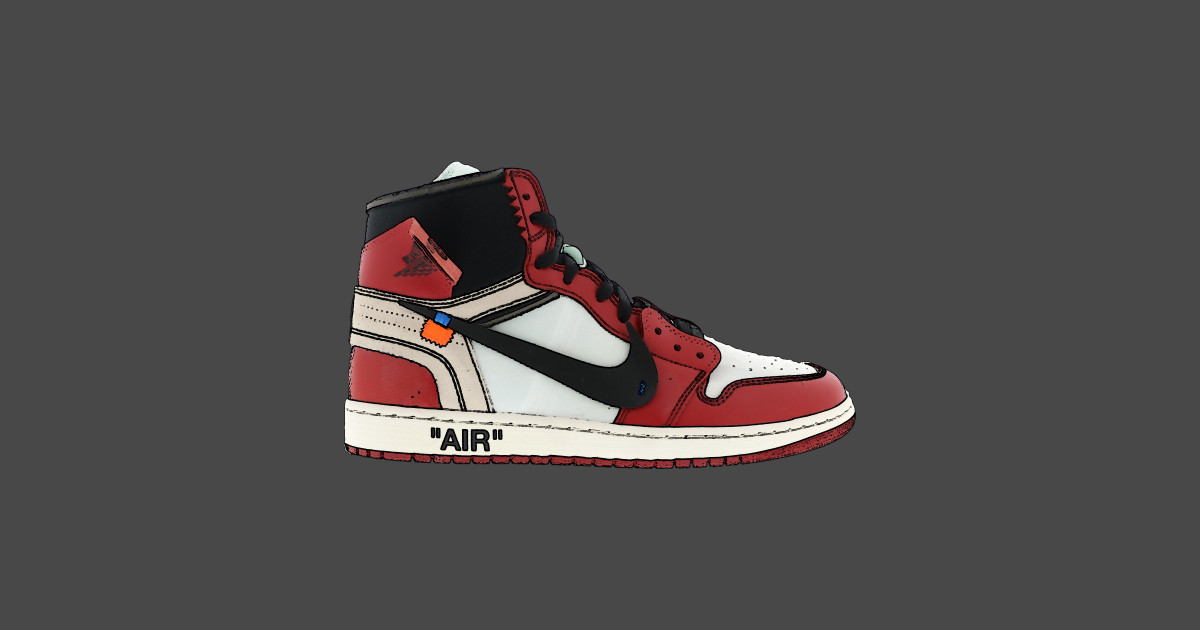 low priced 33858 00186 Nike Jordan 1 Off White Stencil Tapestry