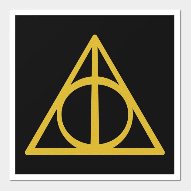 Deathly Hallows (gold) - Harry Potter - Wall Art | TeePublic