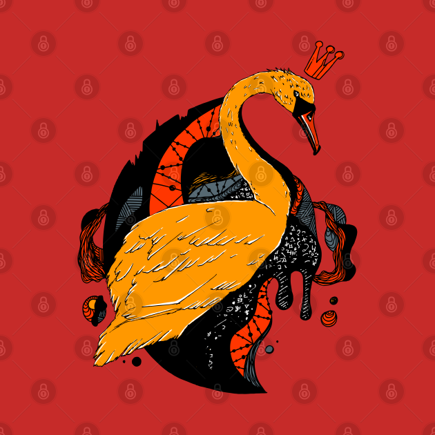 Orangrey Swan Queen