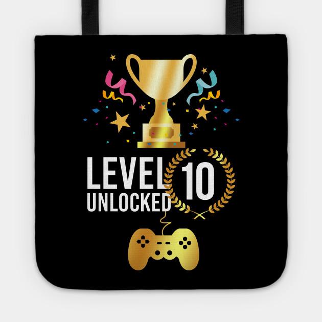 Video Game Birthday Any Age Level 10 Unlocked Level Up Gamer Birthday Shirt