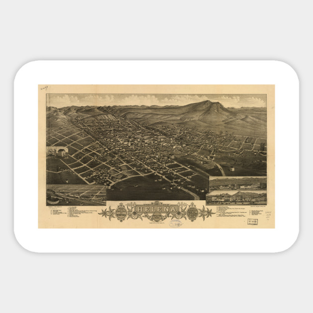Vintage Pictorial Map of Helena Montana (1883) - Helena Map ...