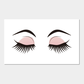 ca584f001555 Lashes Posters and Art Prints | TeePublic