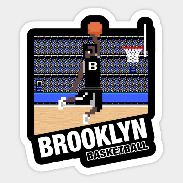 Brooklyn Basketball 8 Bit Pixel Art Cartridge Design
