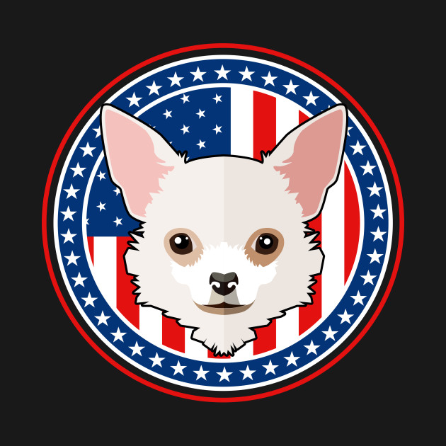 48b061e705a0 Chihuahua Dog 4th Of July American Flag Patriotic Dog - Chihuahua ...