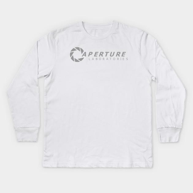 c49ef0076 Aperture Science - Aperture Laboratories - Kids Long Sleeve T-Shirt ...