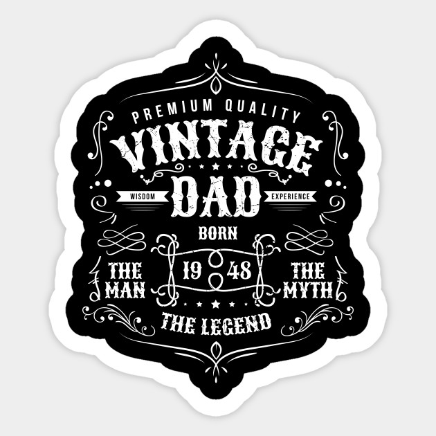 Vintage Dad Born 1948 Shirt - 70th