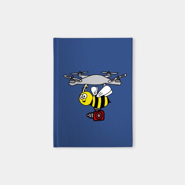 Funny Yellow Jacket Bee Drone Cartoon Drone Notebook Teepublic
