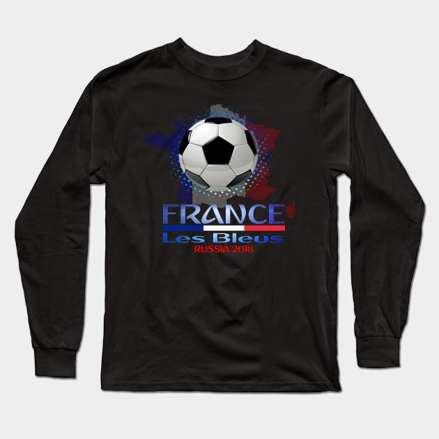 8d1cdce0a France World National Football Cup Russia 2018 France Soccer Team Allez Les  Bleus Long Sleeve T-Shirt