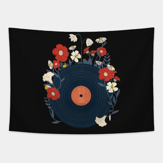Vinyl Record Art - Floral Music Artwork