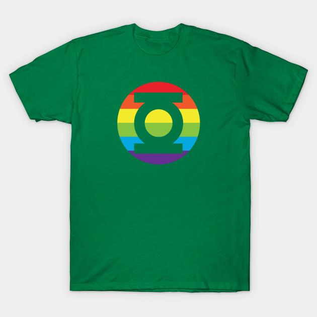 ee8b0153 Green Lantern Gay Pride Logo - Green Lantern Logo - T-Shirt | TeePublic