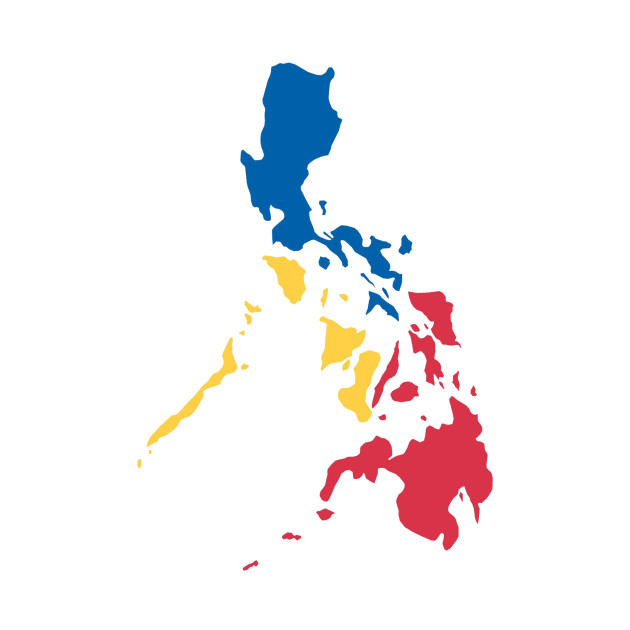 Philippines Filipino Map Sun and Stars Flag by AiReal Apparel ... on