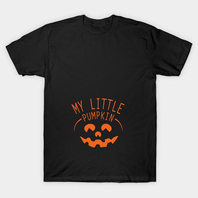 0c63c91476a10 My Little Pumpkin Halloween Maternity T-Shirt Pregnancy Announcement T-Shirt