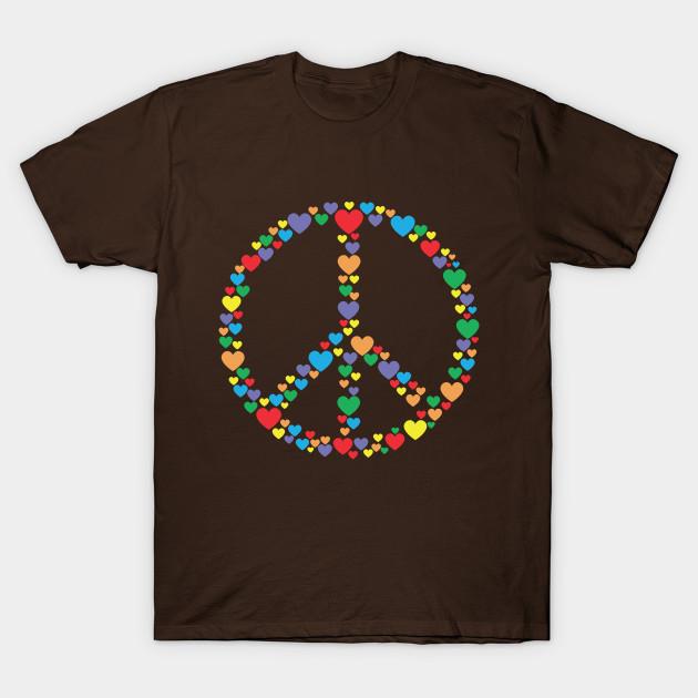 Peace Sign Symbol Love Hearts Peace Sign T Shirt Teepublic