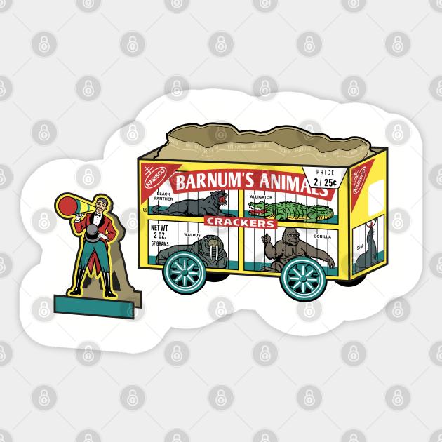 Retro Barnum S Animal Crackers Animal Crackers Sticker Teepublic