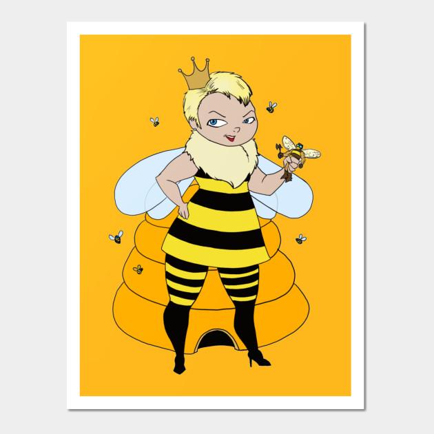Queen Bee - Queen Bee - Wall Art | TeePublic