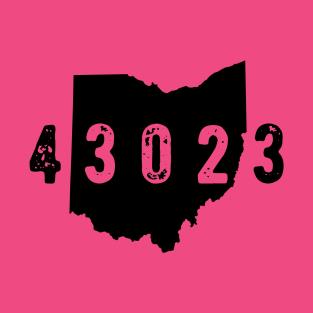 43023 Zip Code Granville Columbus Ohio t-shirts