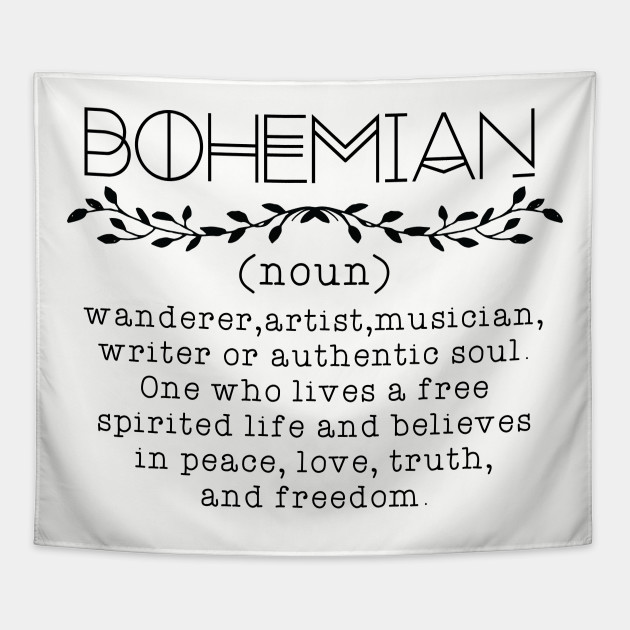Bohemian Definition Tapestry Teepublic