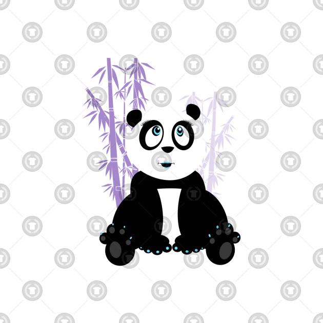 Panda Girl - Purple