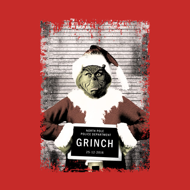 The Grinch Christmas Mugshot