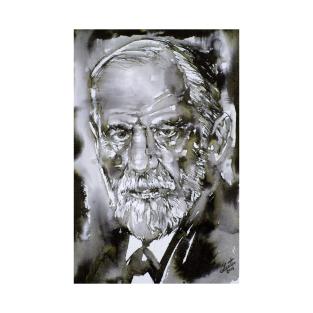SIGMUND FREUD - watercolor portrait.3 t-shirts