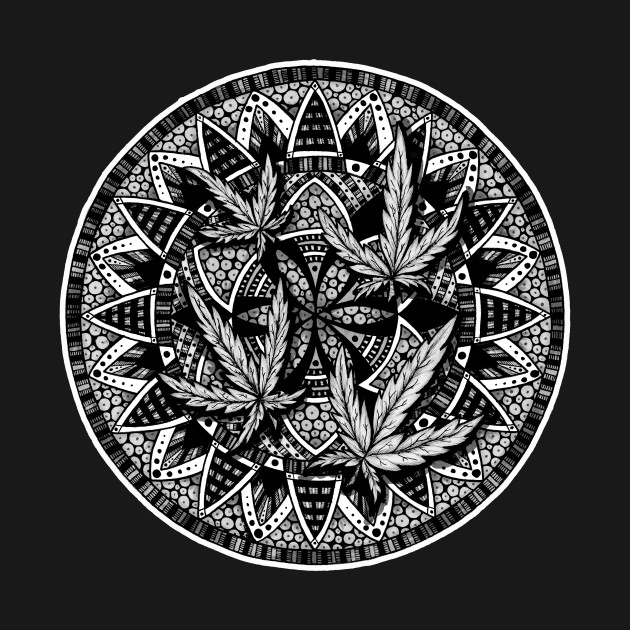 Marijuana Leaf Mandala 1 Marijuana T Shirt Teepublic