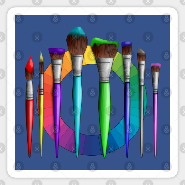 Fun Artist Painter Art Brushes Color Wheel