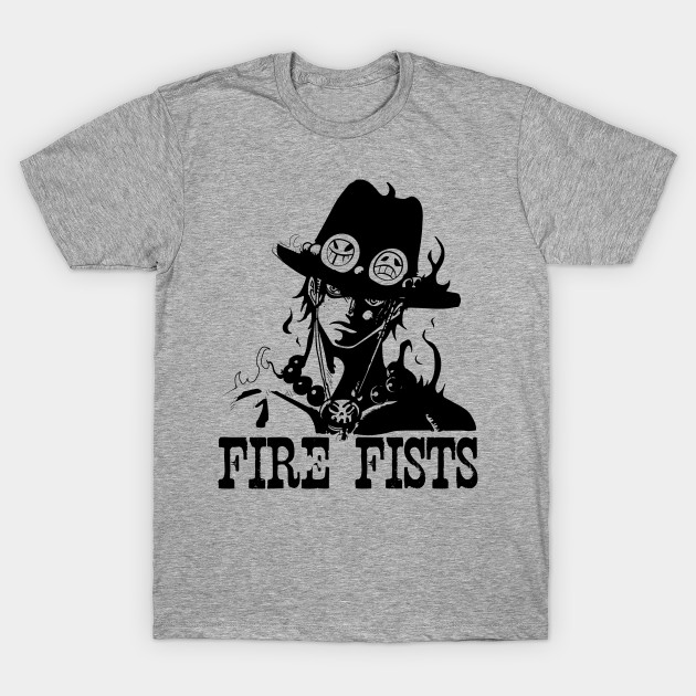 fire fists ace one piece anime zoro t shirt teepublic. Black Bedroom Furniture Sets. Home Design Ideas