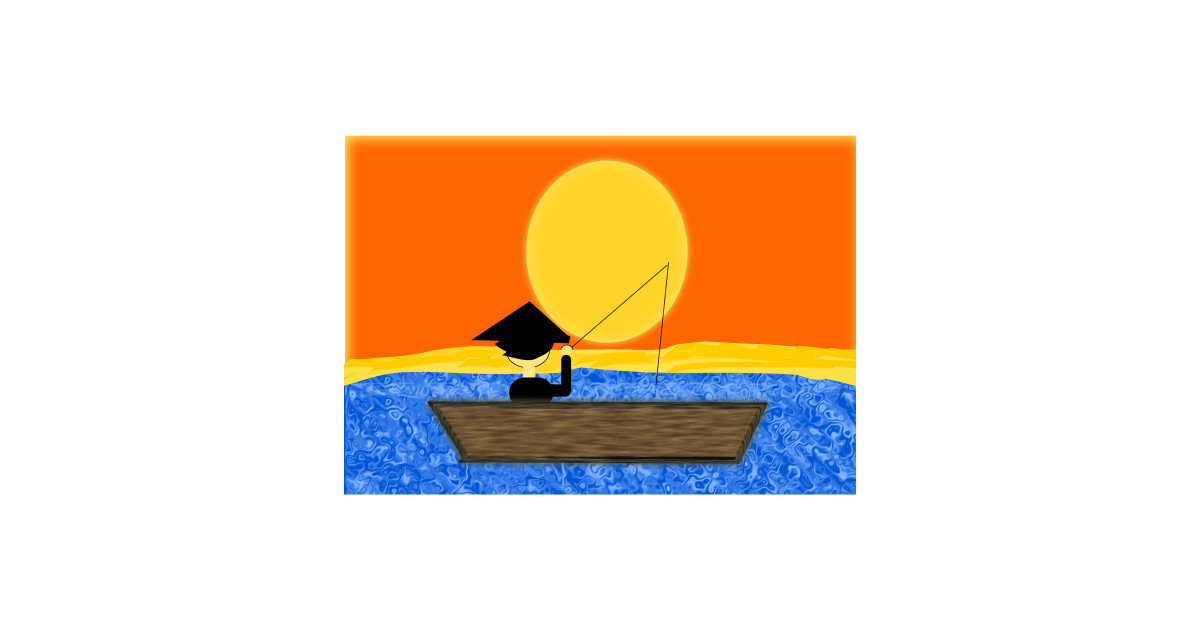 b65c7a4e3ffe8 LIMITED EDITION. Exclusive Chinese Man In A Boat Under A Sunset by  distgesfasorpdesign
