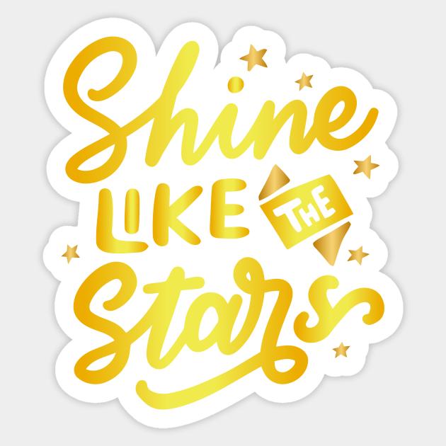 shine like the stars waterproof sticker