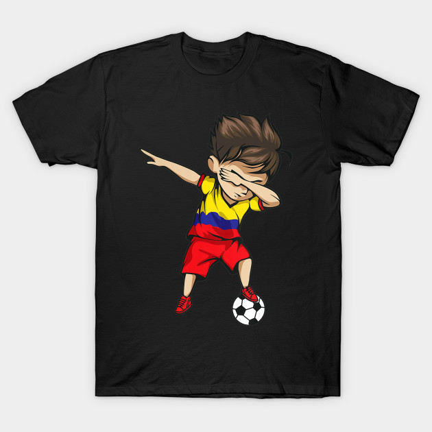3ea09f285 Dabbing Soccer Boy Colombia Jersey Shirt Colombian Football - Cool ...