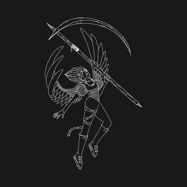 Space Angel of Death Monochrome
