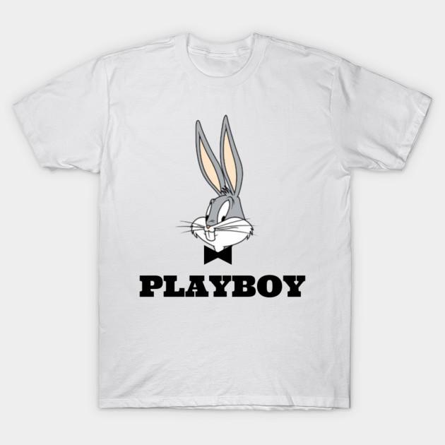56574aae9c61 Playboy Bugs Bunny (White Edition) - Humour - T-Shirt   TeePublic