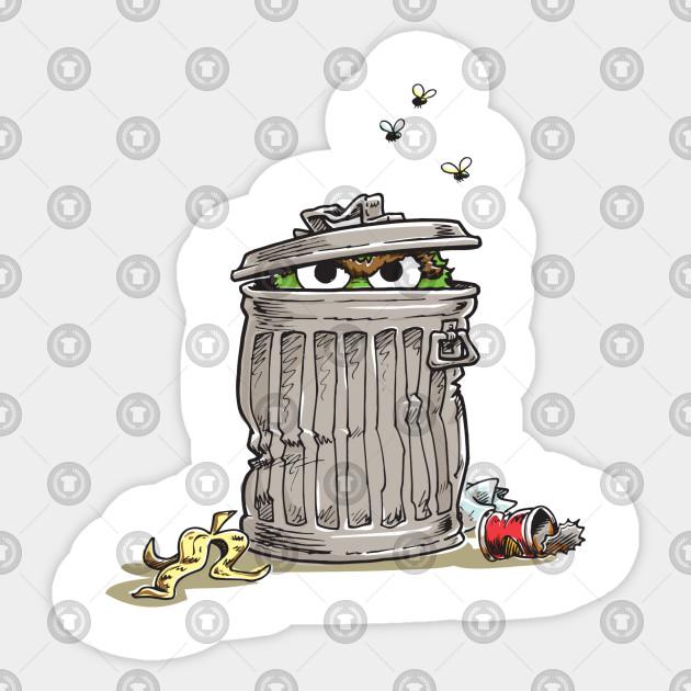 Vintage Oscar In Trash Can