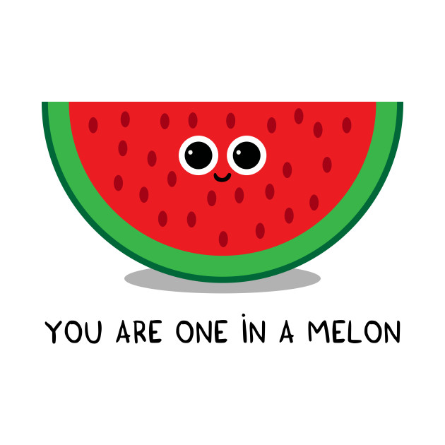56250de9a You are one in a MELON - Watermelon - Onesie | TeePublic