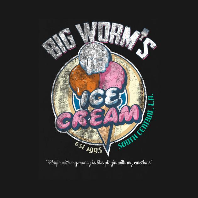 Big Worm's Ice Cream, distressed