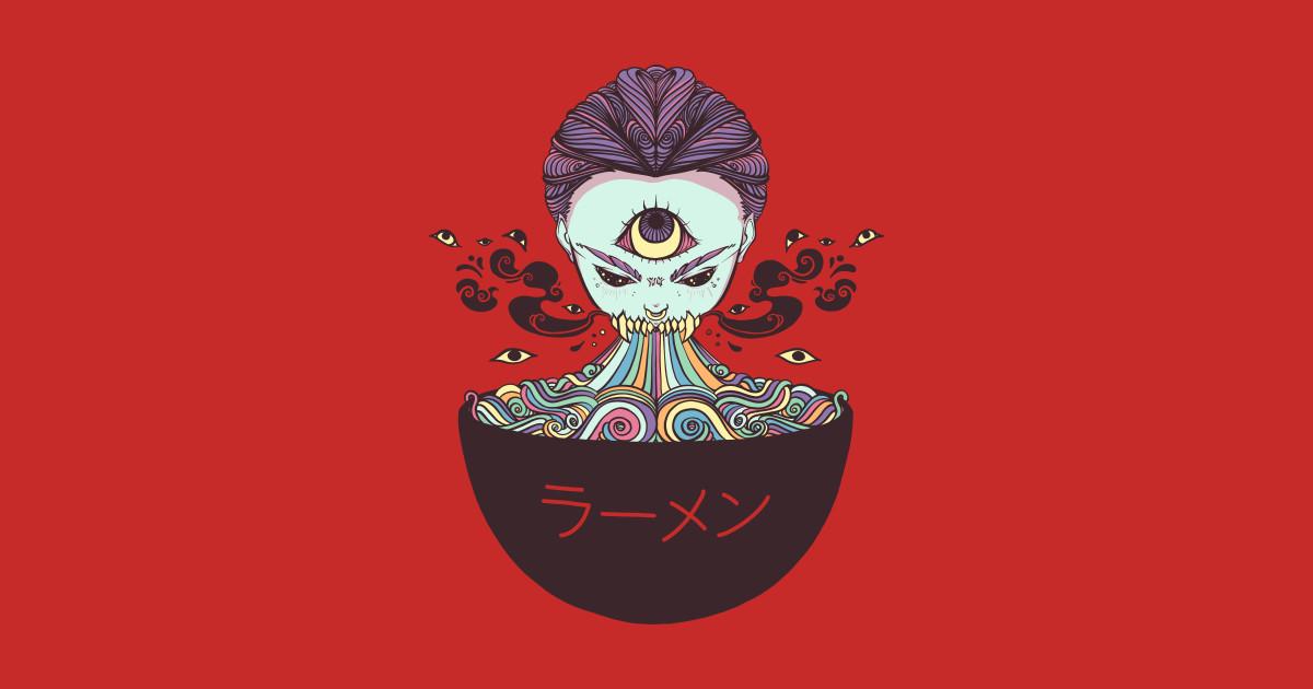 5e1d9988fd5b9 Magic Rainbow Ramen Noodle Anime Art by cellsdividing