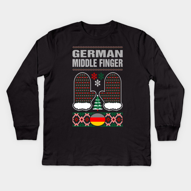 German Middle Finger Christmas Ugly Sweater