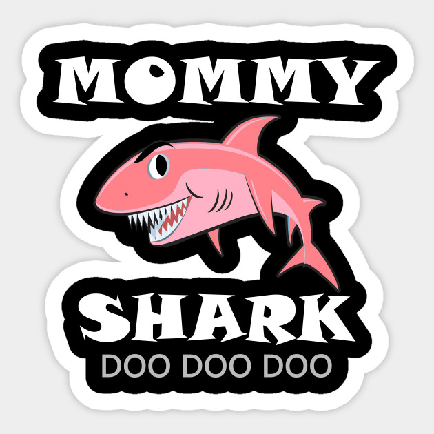 Womens Mommy Shark Shirt Late Mothers Day Gift