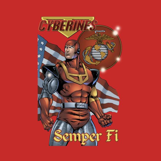 """Cyberines """"Semper Fi"""" Shirt."""