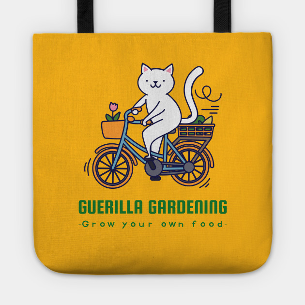 Guerilla Gardening Urban Nomad with bicycle