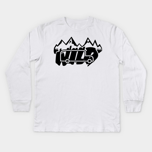 Long Sleeved white T-shirt - Into the wild