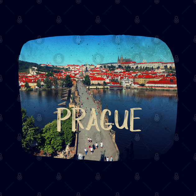 Photography of Prague distressed